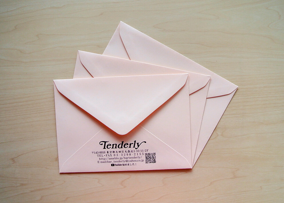QRコード印刷の洋2封筒