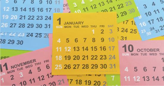 名入れカレンダーの作り方